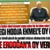 """Gülen'den şimdi de sinsice """"Erdoğan'a oy vermeyin"""" mesajı!"""