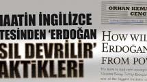 Today's Zaman'dan 'Erdoğan nasıl devrilir' taktikleri!