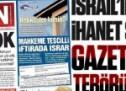 İsrail taşeronu örgütün gazetesi İsrail terörünü görmedi!
