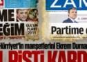 Yine aynı şüphe; Hürriyet'in manşetlerini Dumanlı mı atıyor?