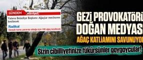 Gezi provokatörü Doğan medyası ağaç katliamını savunuyor!