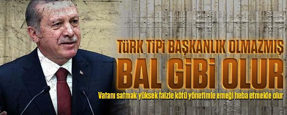 Erdoğan: Türk tipi başkanlık sistemi bal gibi olur