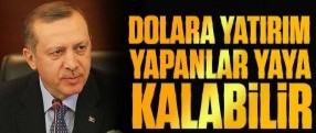 Erdoğan: Dolara yatırım yapanlar yaya kalabilir