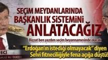 """""""Erdoğan'ın istediği olmayacak"""" diyen Selvi fitneciliğiyle fena açığa düştü!"""