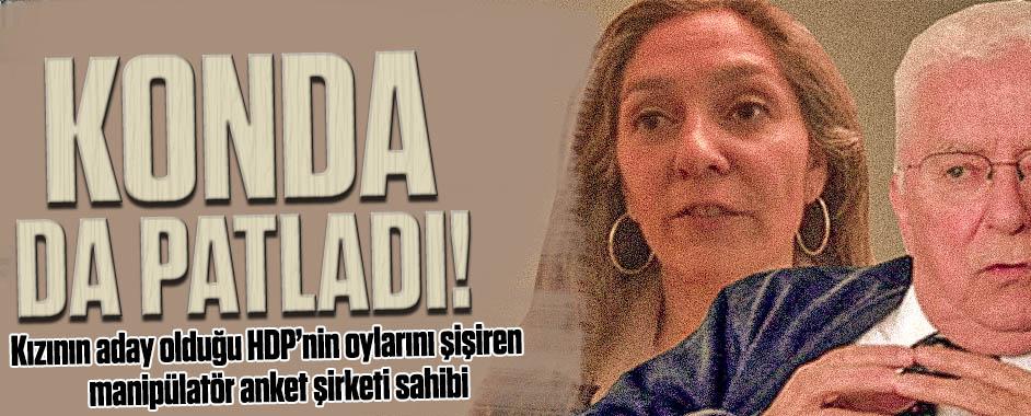 Kızının aday olduğu HDP'nin oylarını şişiren anket firması sahibi!