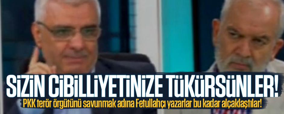 PKK'yı savunmak adına Fetullahçı yazarlar bu kadar alçaklaştılar!