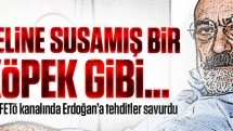 O alçak FETÖ kanalında Erdoğan'a tehditler savurdu