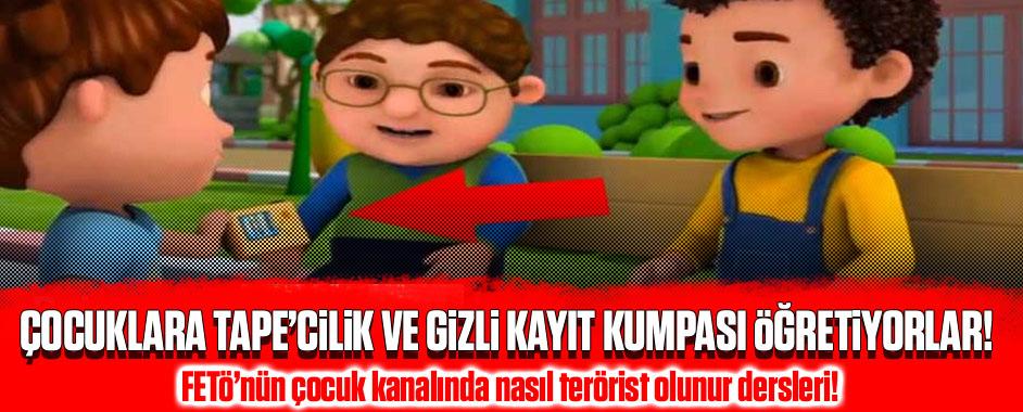 FETÖ'nün çocuk kanalında nasıl terörist olunur dersleri!
