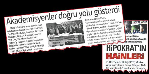 PKK'lı Tabipler Birliği vurguna sus pus!