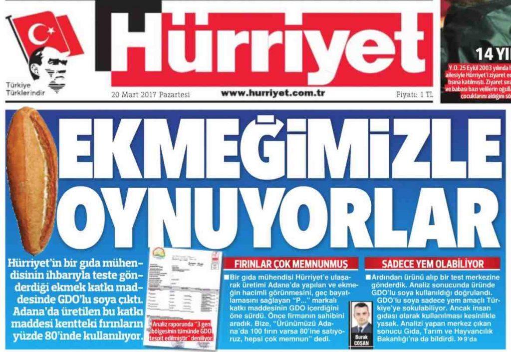 Hürriyet'in yalanı imiş meğer!